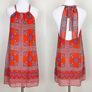 Lulus | Scarf Print Dress Boho Paisley Hippie
